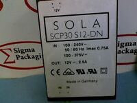 Sola SCP30 S12-DN Power Supply IN: 100-240V 50/60Hz lmax 0.75A Out: 12V 2.5A
