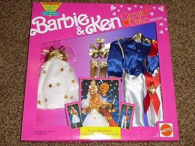Vintage Barbie Fashion Ken Great Date 1991 Prince Princess Costume Gown 2969 MIP