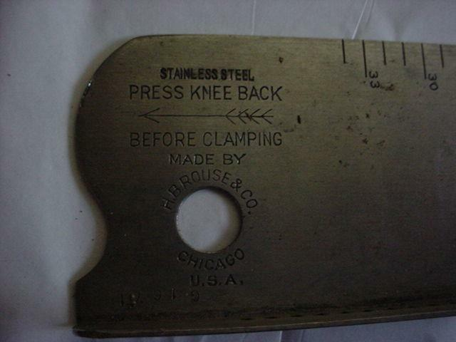 PRESS KNEE BACK  H.B. ROUSE & CO PLUS OTHER ACCESSORIES (29) PIECE LOT