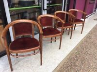 Bentwood carver dining chair - set of 4