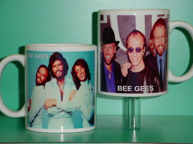 BEE GEES - Barry Robin Maurice Gibb - with 2 Photos - Collectible GIFT Mug