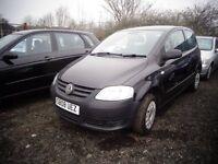 2008 V W Fox 1.2 3 door 88,000 Miles Full MOT £1395