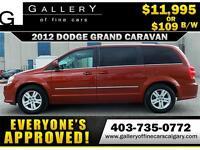 2012 Dodge Grand Caravan CREW $109 bi-weekly APPLY NOW DRIVE NOW
