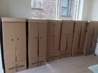 9 House moving cardboard Wardrobe Boxes