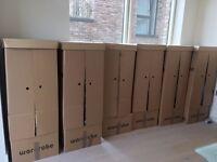9 House moving cardboard Wardrobe Boxes