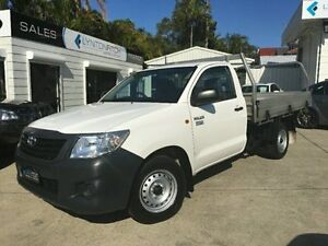 2014 Toyota Hilux TGN16R MY14 Workmate White Manual Cab Chassis Southport Gold Coast City Preview