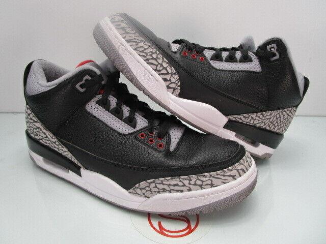 2018 Nike Air Jordan III 3 Retro BLACK CEMENT 10.5 (REPLACEMENT BOX)
