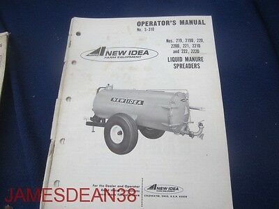 New Idea 219 220 220d 221 222 222d Liquid Manure Spreader Operators Manual 29