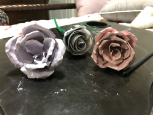 Hand Crafted Sheet Metal Roses and Flowers - Gift Ideas