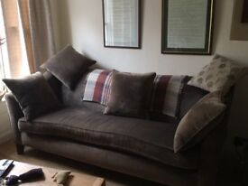 Beautiful chocolate brown 3 seater sofa