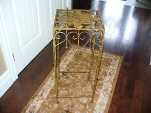 Pretty gold wrought iron stand