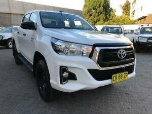 2018 Toyota Hilux GUN126R MY19 SR (4x4) White 6 Speed Automatic Double Cab Pickup