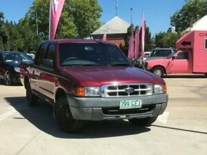 2000 Ford Courier PE GL Crew Cab 4x2 Maroon 5 Speed Manual Cab Chassis South Toowoomba Toowoomba City Preview