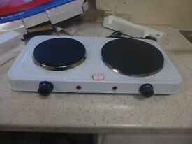 Hob. Electric 2 ring twin controls. Unused.