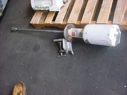 1 Hp ADMIX STAINLESS STEEL ROTOSTAT MIXER 45 inch shaft 1745 rpm