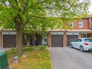 Updated Spacious 4-Br 3-Car Parking W/O Basement Condo TH.