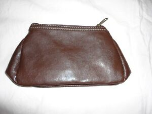 Brand new lancome brown leather pouch purse London Ontario image 2