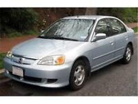 2002 Honda Civic DX, SAFETY & EPASS, SILVER, AUTO, 4DR