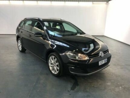 2014 Volkswagen Golf AU MY14 103 TSI Highline Deep Black Pearl Effect 7 Speed Auto Direct Shift Albion Brimbank Area Preview