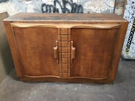 Antique Gomme (early G-plan) solid oak sideboard/cupboard mid 20th c