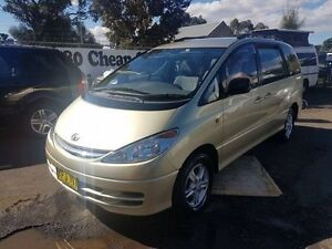 2002 Toyota Tarago ACR30R GLX Gold 4 Speed Automatic Wagon Campbelltown Campbelltown Area Preview
