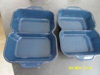 Blue denby divided serving dishes