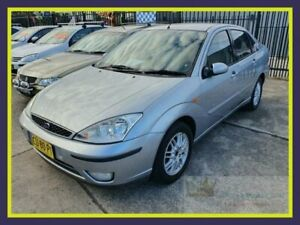 2003 Ford Focus LR MY2003 Ghia Silver Automatic Sedan Lansvale Liverpool Area Preview