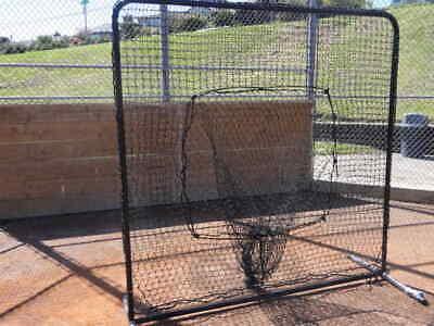 Baseball Softball Catch Net Protective Screen Kit 7'x7' w/ Net & Frame Sock net