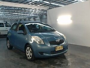 2005 Toyota Yaris NCP91R YRS Blue 5 Speed Manual Hatchback Beresfield Newcastle Area Preview