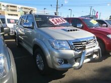 2014 Toyota Hilux KUN26R MY14 SR5 Double Cab Silver 5 Speed Automatic Utility Cardiff Lake Macquarie Area Preview