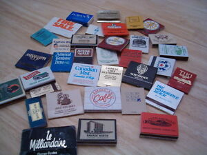 35+ vintage advertising matchbooks and boxes