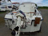 Sea fishing boat RYDS 435FC 2 berth cabin cruiser day boat 30hp outboard engine motor