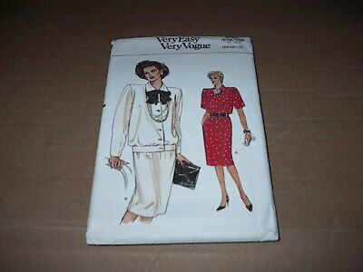 Vintage Vogue Pattern 9485 ~ Misses' Loose Fitting Top & Skirt  Sz 14 ~ 18 Uncut