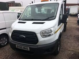 FORD TRANSIT 2.2 350 DRW 1d 124 BHP TIPPER ALL FULLY PREPARED (white) 2015