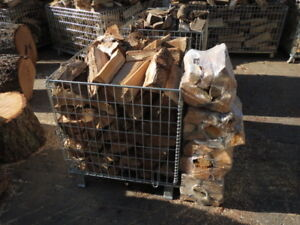 DRY SEASONED FIREWOOD AND BUNDLES OR BASKETS OF DRY FIRE WOOD