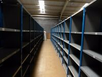 JOB LOT 50 BAYS QBS heavy duty industrial shelving 2.1m high ( storage , pallet racking )