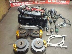 JDM 2004+ SUBARU STI EJ20T SPEC-C VERSION 9 ENGINE 2.0L TURBO VF36 DCCD TRANSMISSION AWD 6 SPEED BREMBO KIT FRONT END