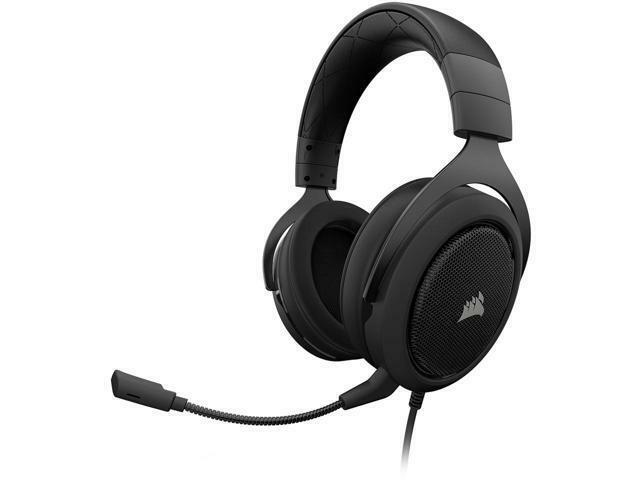 CORSAIR HS60 Wired Stereo Gaming Headset for PC, Xbox One, PlayStation 4, Nintendo Switch and Mobile Devices Carbon CA-9011173-NA