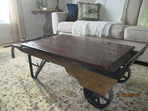 Antique, Authentic Hand Weigh Cart/Coffee Table