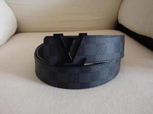 Louis Vuitton Damier GRAPHITE Belt *AUTHENTIC