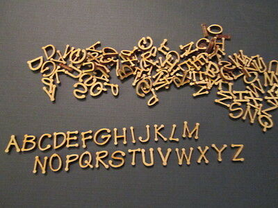 130 Small Laser Cut Wood Letters (Feltpoint font) 1/2