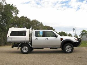 2010 Ford Ranger PK XL Crew Cab Silver 5 Speed Automatic Cab Chassis Underwood Logan Area Preview