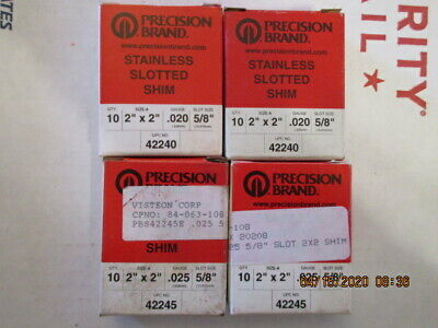 Tool 529 Lot Of Four Boxes New Old Stock .020 .025 Ss Steel Slotted Shims