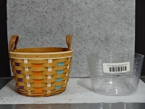 2017 LONGABERGER COLLECTORS CLUB CC CORN BASKET PROTECTOR EASTER FALL LEATHER!!!