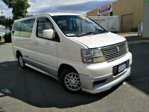 2000 Nissan Elgrand E50 White 4 Speed Automatic Wagon Malaga Swan Area Preview