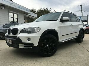 2008 BMW X5 E70 MY09 xDrive30d Steptronic White Semi Auto Wagon Southport Gold Coast City Preview