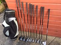 Junior Golf Clubs age 8 upwards - 11 clubs - ideal for junior starting out without large outlay