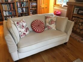 Matching Sofas - cream, 2 seater and 4-seater, 4 years old
