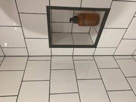 White Square Bathroom/Kitchen Tiles 1m2