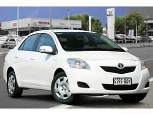2010 Toyota Yaris NCP93R MY10 YRS Snow Cap White 4 Speed Automatic Sedan Adelaide CBD Adelaide City Preview